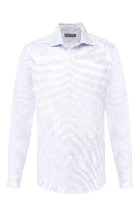 Мужская хлопковая сорочка CANALI синего цвета, арт. X58/GD00639 | Фото 1