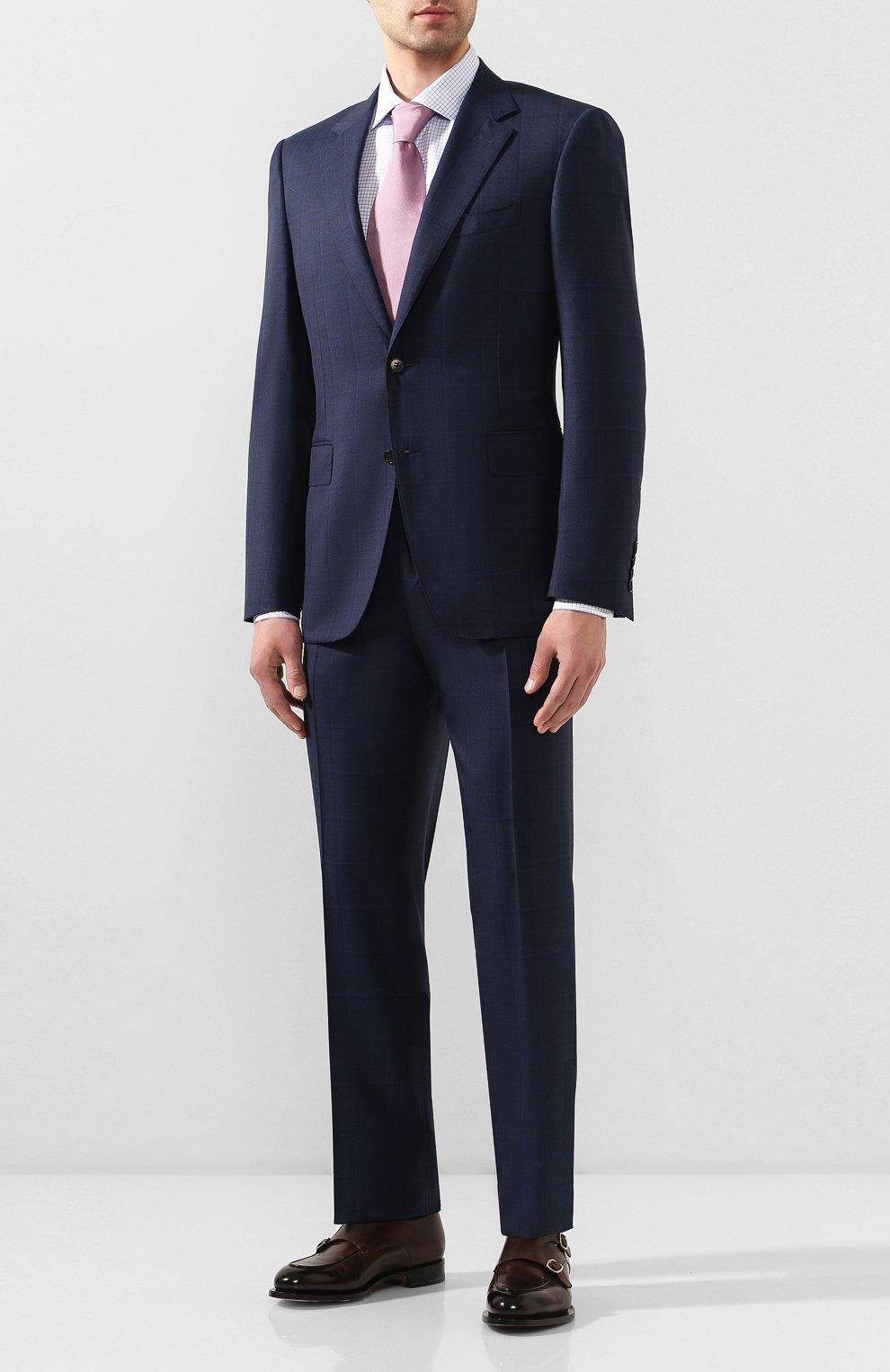 Мужская хлопковая сорочка CANALI синего цвета, арт. X58/GD00639 | Фото 2
