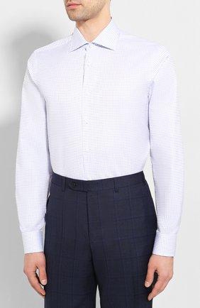 Мужская хлопковая сорочка CANALI синего цвета, арт. X58/GD00639 | Фото 3
