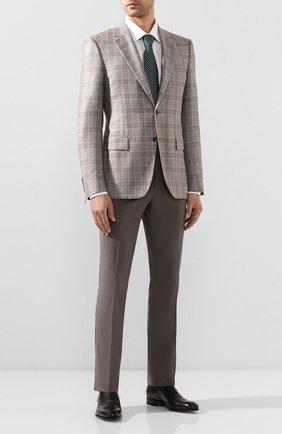 Мужской пиджак из шелка и кашемира CANALI светло-серого цвета, арт. T11280/CX01711 | Фото 2