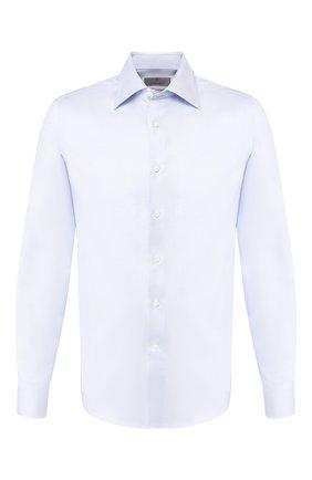 Мужская хлопковая сорочка CANALI голубого цвета, арт. NX05/GR01926 | Фото 1