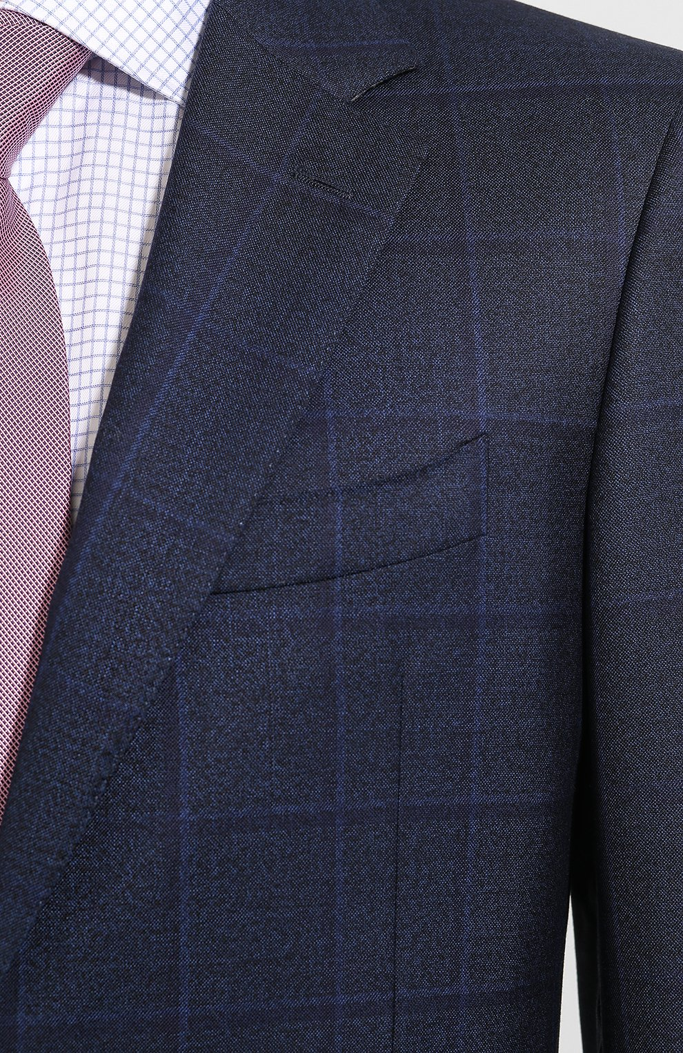 Мужской шерстяной костюм CANALI темно-синего цвета, арт. 11280/19/BF02776 | Фото 6