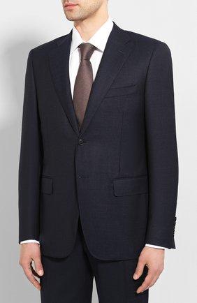 Мужской шерстяной костюм CANALI темно-синего цвета, арт. 11220/10/AR02742 | Фото 2