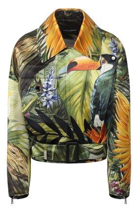Женская шелковая куртка DOLCE & GABBANA разноцветного цвета, арт. F9I11T/GDU45 | Фото 1