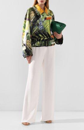 Женская шелковая куртка DOLCE & GABBANA разноцветного цвета, арт. F9I11T/GDU45 | Фото 2