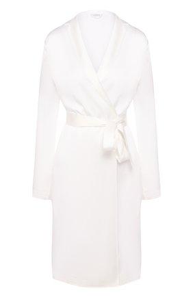 Женский шелковый халат LA PERLA кремвого цвета, арт. 0020293 | Фото 1