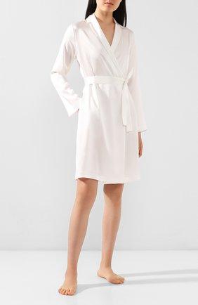 Женский шелковый халат LA PERLA кремвого цвета, арт. 0020293 | Фото 2