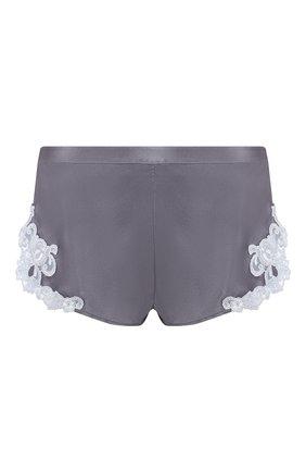Женские шелковые шорты LA PERLA серого цвета, арт. 0019228/W218 | Фото 1
