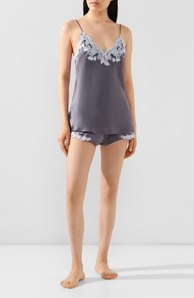 Женские шелковые шорты LA PERLA серого цвета, арт. 0019228/W218 | Фото 2
