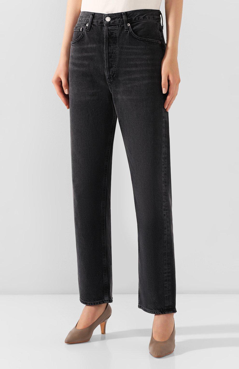 Женские джинсы AGOLDE серого цвета, арт. A069B-1157   Фото 3