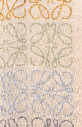 Женский шарф из шерсти и шелка LOEWE бежевого цвета, арт. F603253X01 | Фото 2