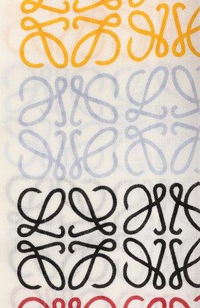 Женский шарф из шерсти и шелка LOEWE белого цвета, арт. F603253X01 | Фото 2 (Материал: Шерсть)