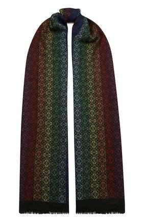 Женский шарф из шерсти и шелка LOEWE разноцветного цвета, арт. F603251X01 | Фото 1 (Материал: Шерсть)