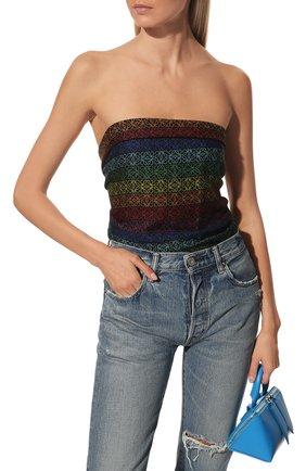 Женский шарф из шерсти и шелка LOEWE разноцветного цвета, арт. F603251X01 | Фото 2 (Материал: Шерсть)