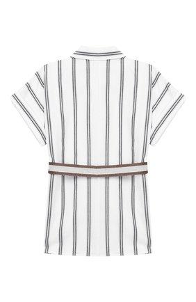 Детское хлопковая блузка BRUNELLO CUCINELLI разноцветного цвета, арт. BF769C825C | Фото 2