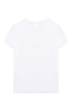 Детская хлопковая футболка BRUNELLO CUCINELLI белого цвета, арт. B0045T085B | Фото 2