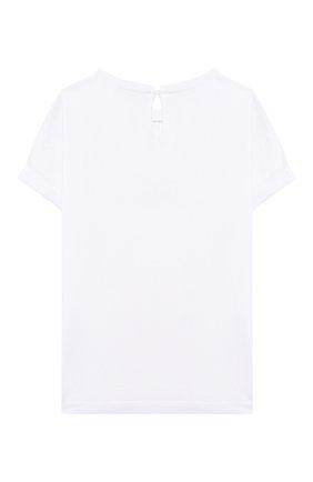 Детская хлопковая футболка BRUNELLO CUCINELLI белого цвета, арт. B0045T085C | Фото 2