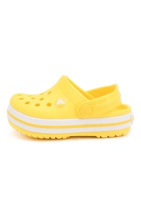 Детские сабо crocband clog k CROCS желтого цвета, арт. 204537-7C1 | Фото 2