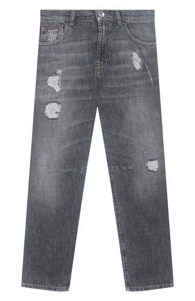 Детские джинсы BRUNELLO CUCINELLI серого цвета, арт. BH203D301C   Фото 1