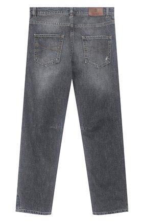 Детские джинсы BRUNELLO CUCINELLI серого цвета, арт. BH203D301C   Фото 2