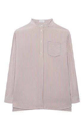 Детское шелковая блузка BRUNELLO CUCINELLI розового цвета, арт. BF771C201B | Фото 1