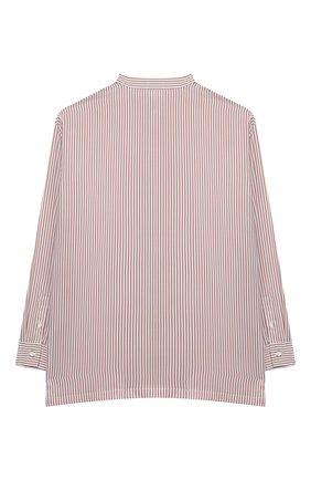 Детское шелковая блузка BRUNELLO CUCINELLI розового цвета, арт. BF771C201B | Фото 2