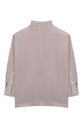 Детское шелковая блузка BRUNELLO CUCINELLI розового цвета, арт. BF771C201A | Фото 2