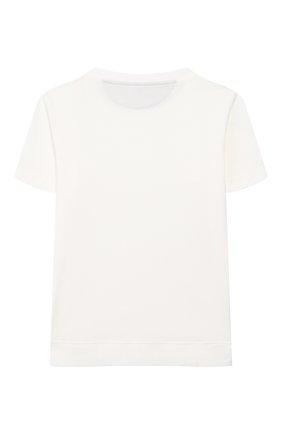 Детская хлопковая футболка BRUNELLO CUCINELLI белого цвета, арт. B0B13T170B   Фото 2
