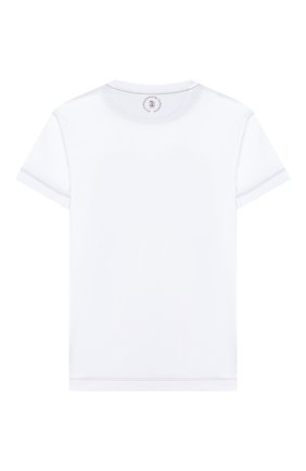 Детская хлопковая футболка BRUNELLO CUCINELLI белого цвета, арт. B0B13T140C   Фото 2