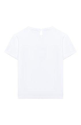 Детская хлопковая футболка BRUNELLO CUCINELLI белого цвета, арт. B0045T010A | Фото 2