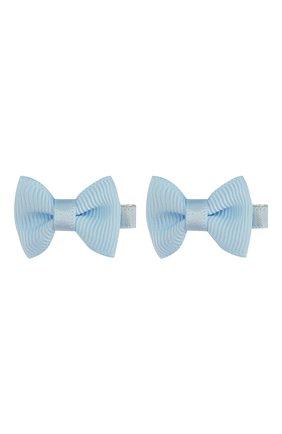 Детская комплект из двух заколок small bow z JUNEFEE голубого цвета, арт. 4329 | Фото 1