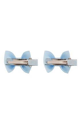Детская комплект из двух заколок small bow z JUNEFEE голубого цвета, арт. 4329 | Фото 2