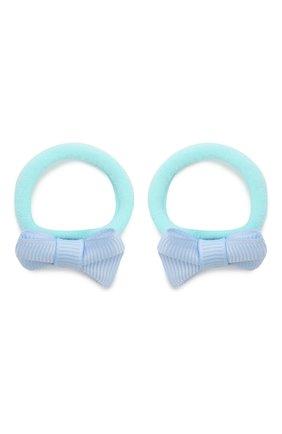 Детская комплект из двух резинок small bow JUNEFEE голубого цвета, арт. 5509 | Фото 1