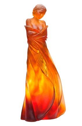 Мужского скульптура зима в шелках DAUM оранжевого цвета, арт. 05354-2 | Фото 1