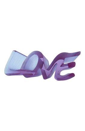 Мужская скульптура true love DAUM фиолетового цвета, арт. 05594-2 | Фото 1