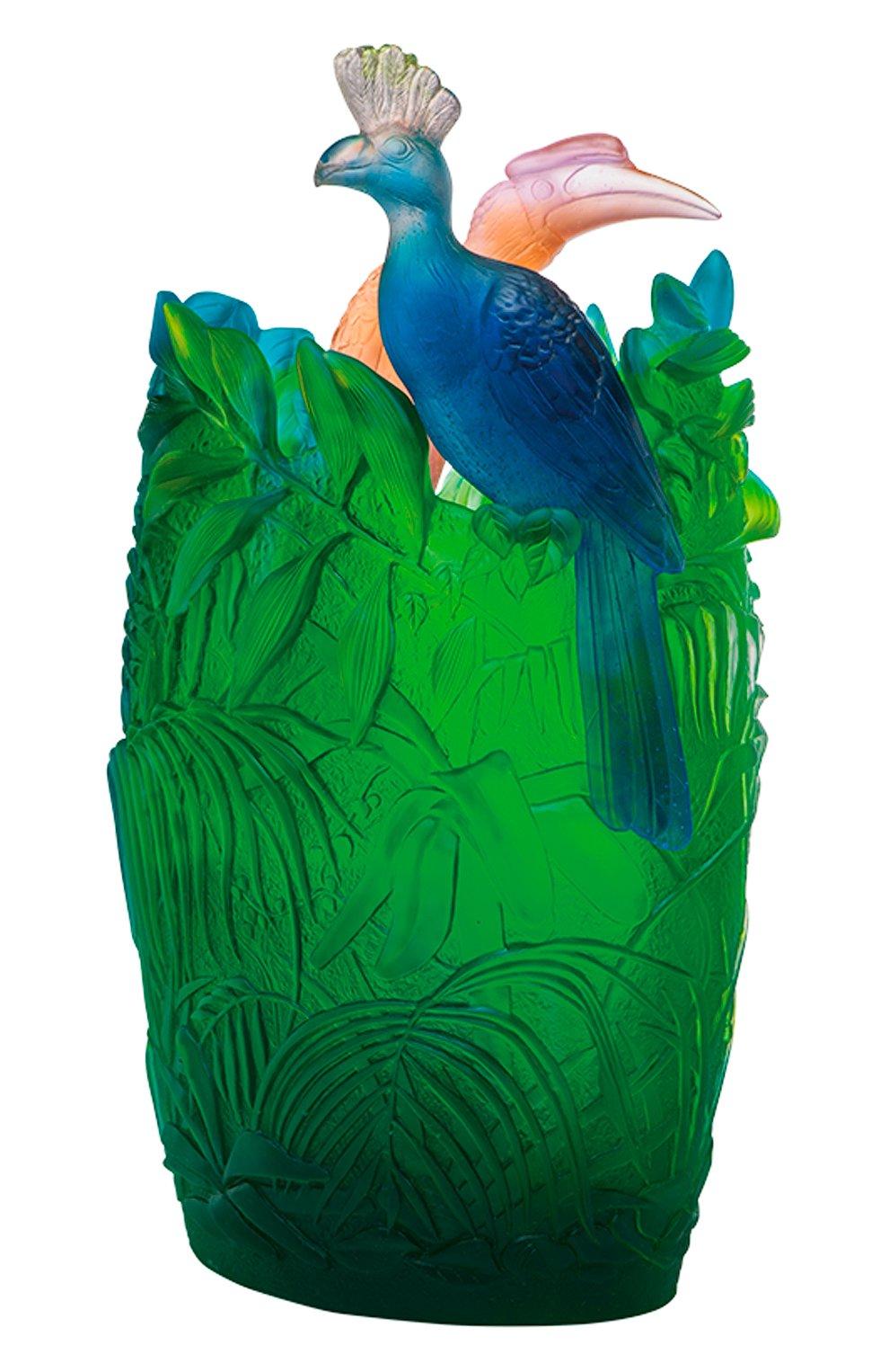 Мужского ваза jungle DAUM зеленого цвета, арт. 05337 | Фото 1