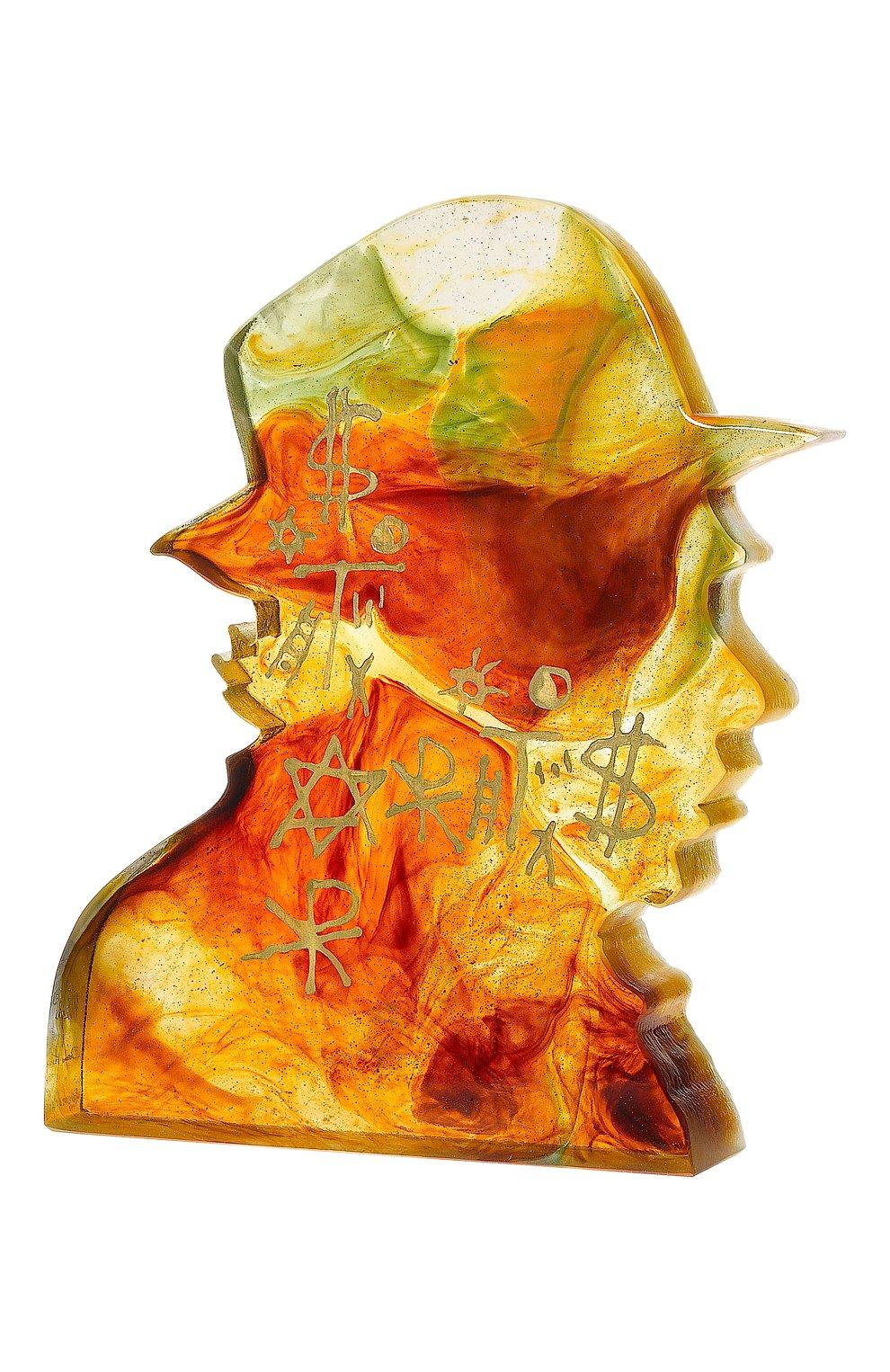 Мужского скульптура звезда искусства DAUM оранжевого цвета, арт. 03683   Фото 1