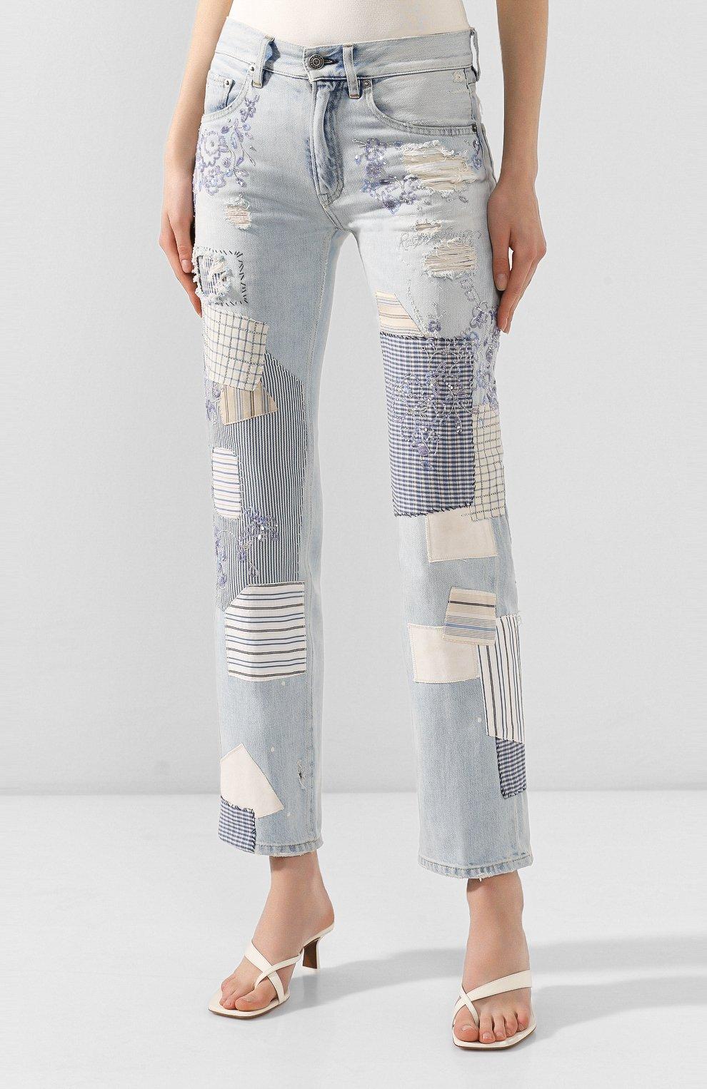Женские джинсы RALPH LAUREN голубого цвета, арт. 290822211 | Фото 3