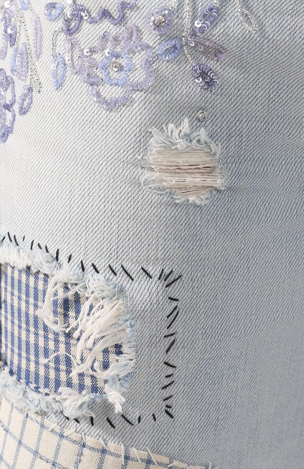 Женские джинсы RALPH LAUREN голубого цвета, арт. 290822211 | Фото 5