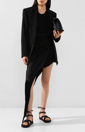 Женская юбка ALEXANDER WANG черного цвета, арт. 1WC1205147 | Фото 2