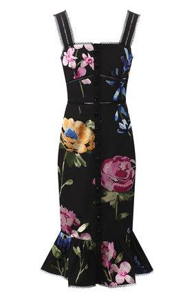 Женское хлопковое платье MARCHESA черного цвета, арт. M28907 | Фото 1