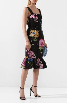 Женское хлопковое платье MARCHESA черного цвета, арт. M28907 | Фото 2
