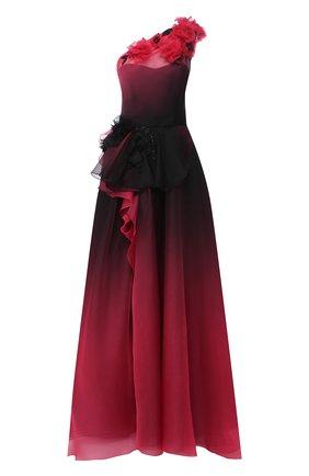 Женское шелковое платье MARCHESA фиолетового цвета, арт. M29813 | Фото 1
