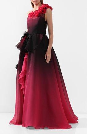 Женское шелковое платье MARCHESA фиолетового цвета, арт. M29813 | Фото 2
