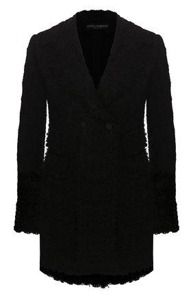 Женский двубортный жакет DOLCE & GABBANA черного цвета, арт. F29FXT/HUMJK | Фото 1