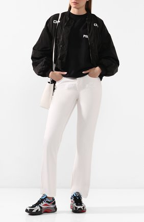 Женские текстильные кроссовки VETEMENTS черного цвета, арт. UAH21SN934 1385/W | Фото 2