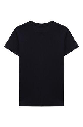 Детская хлопковая футболка BRUNELLO CUCINELLI синего цвета, арт. BL824S150C   Фото 2