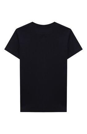 Детская хлопковая футболка BRUNELLO CUCINELLI синего цвета, арт. BL824S150B   Фото 2