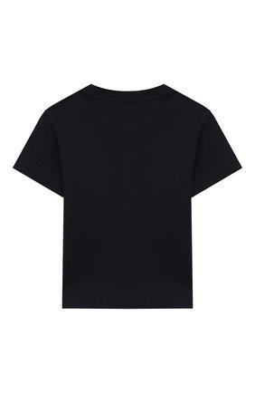 Детская хлопковая футболка BRUNELLO CUCINELLI синего цвета, арт. BL824S150A   Фото 2
