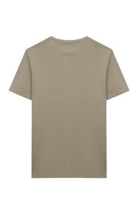 Детская хлопковая футболка BRUNELLO CUCINELLI хаки цвета, арт. B0B13T120B   Фото 2